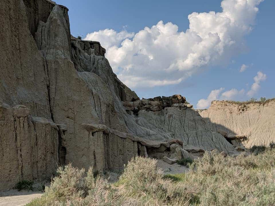 Steep Mountain Wall in the North Unit of Theodore Roosevelt National Park